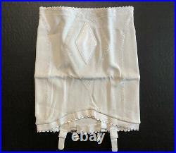 Vtg SLIM DOWN Nylon Rubber Open Bottom Girdle w Garters NOS Deadstock W 32-34