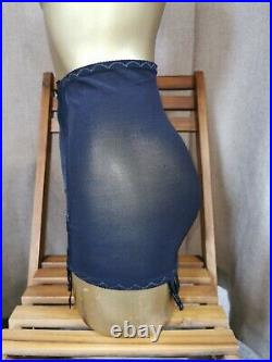 Vtg Style Girdle Open Bottom Black By Berlei Waist Size 30-31 Inches A-374