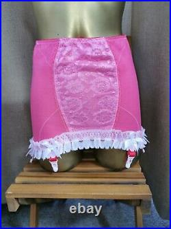 Vtg Style Girdle Open Bottom Rose Pink By M&s Waist Size 31- 32 #169