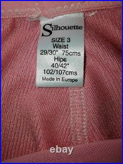 Vtg Style Girdle Open Bottom Sweet Pink By Silhouette Waist Size 27-28 #159