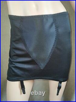 Vtg Style Pantie Girdle Open Bottom Black Waist Size 37-38 #40
