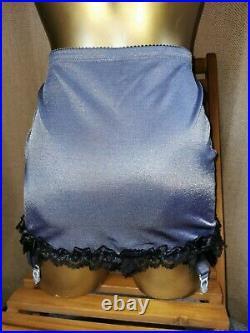 Vtg Style Pantie Girdle Open Bottom Grey By Debenhams Waist Size 30-32 #79
