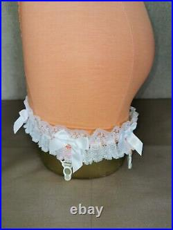 Vtg Style Pantie Girdle Open Bottom Peach By M&s Size S # 1132