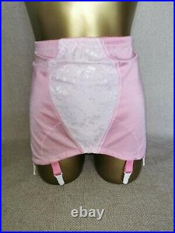 Vtg Style Pantie Girdle Open Bottom Rose Pink By M&s Waist Size 35-36 # 1349