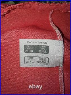 Vtg Style Pantie Girdle Open Bottom Rose Pink Waist Size 29-30 #39
