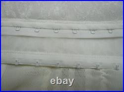 Vtg Sz 38 Shapette Open Bottom Girdle Corsette 4 Garter Belt White Rago Cincher