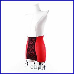 Women Open Bottom Girdle Firm Shaping Girdle Floral Garter Belt Wt 6 Wide Straps